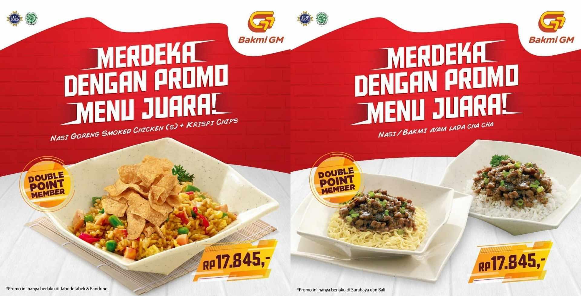 Diskon BAKMI GM Promo Merdeka only Rp.17.845*