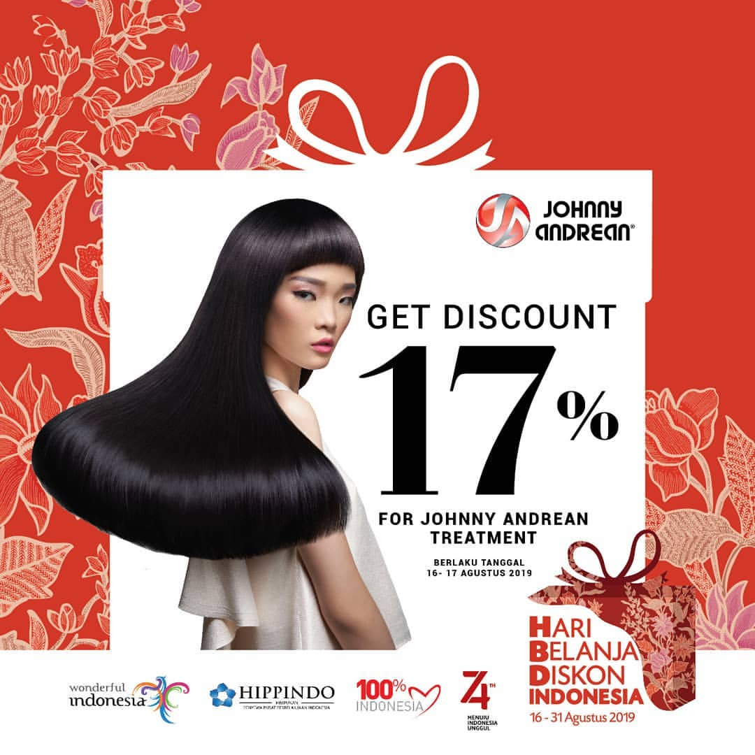 JOHNNY ANDREAN SALON Promo Get Discount 17%*