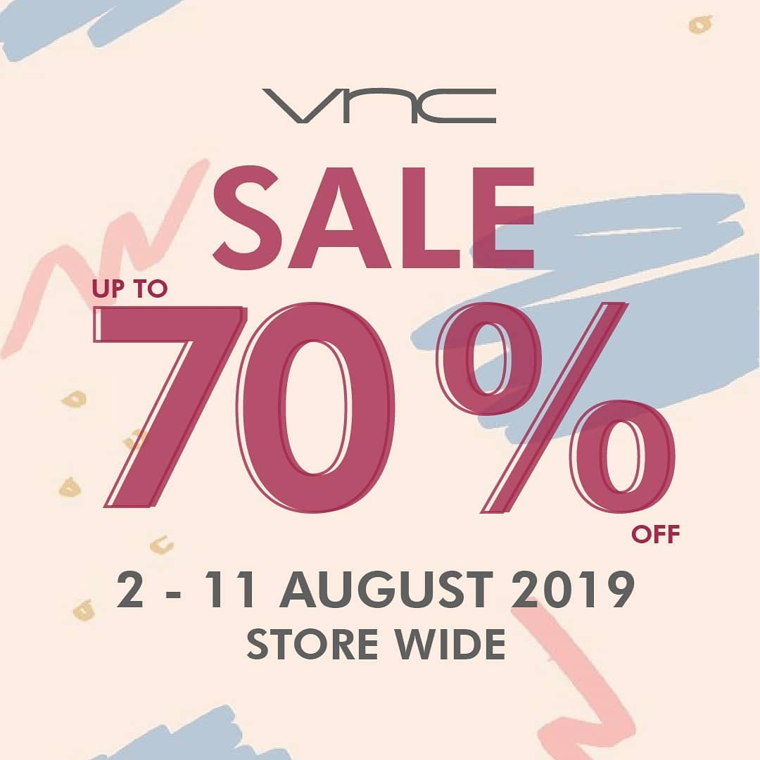 Diskon VNC Promo Sale up to 70% off