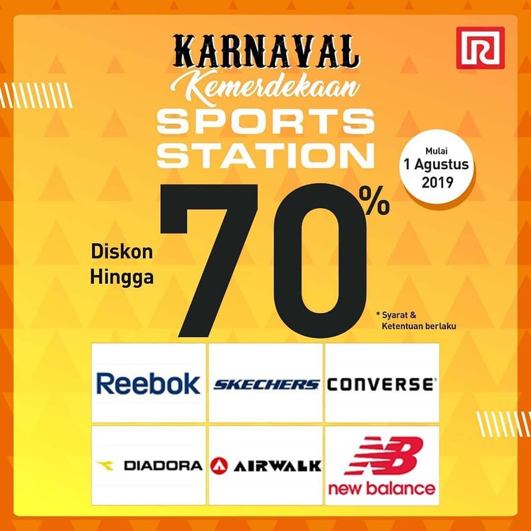 Ramayana Promo Karnaval Kemerdekaan Sports Station, Diskon hingga 70%