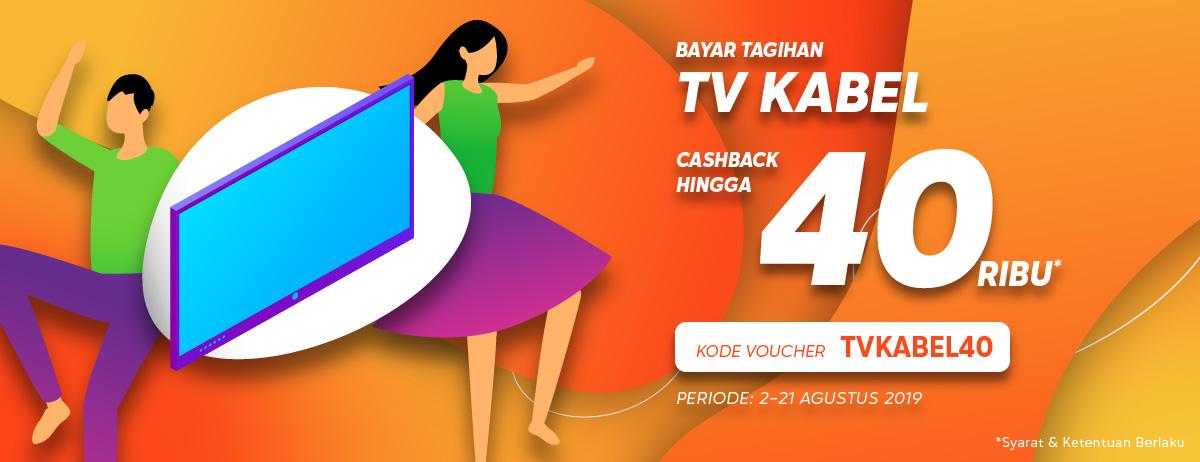Blibli Promo Bayar Tagihan TV Kabel, Cashback Hingga Rp.40.000