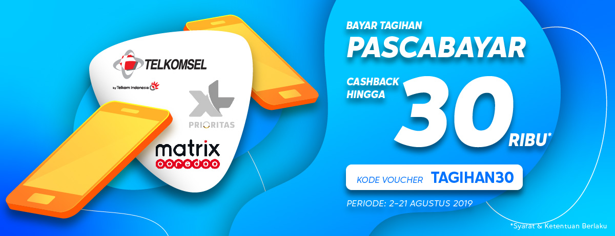Blibli Promo Bayar Tagihan Pascabayar, Cashback Hingga Rp.30.000