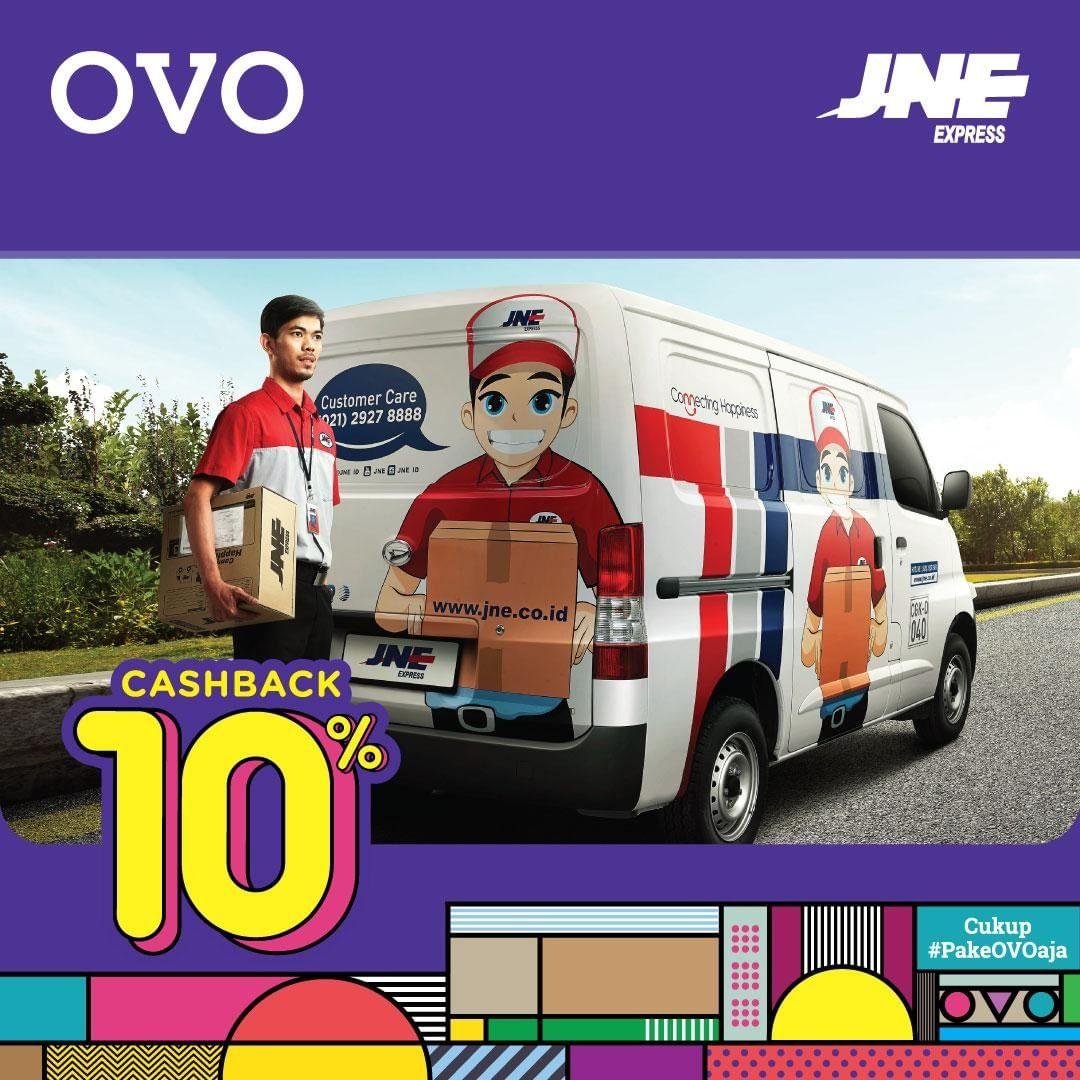 JNE Promo Cashback 10% Dengan OVO