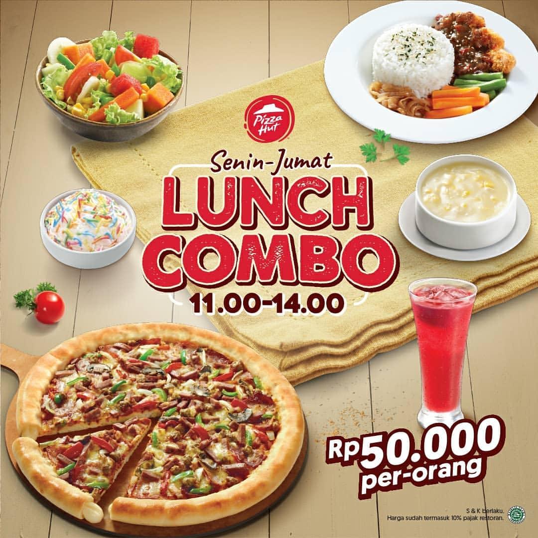 Pizza Hut Promo Lunch Combo Hanya Rp.50.000 per Orang
