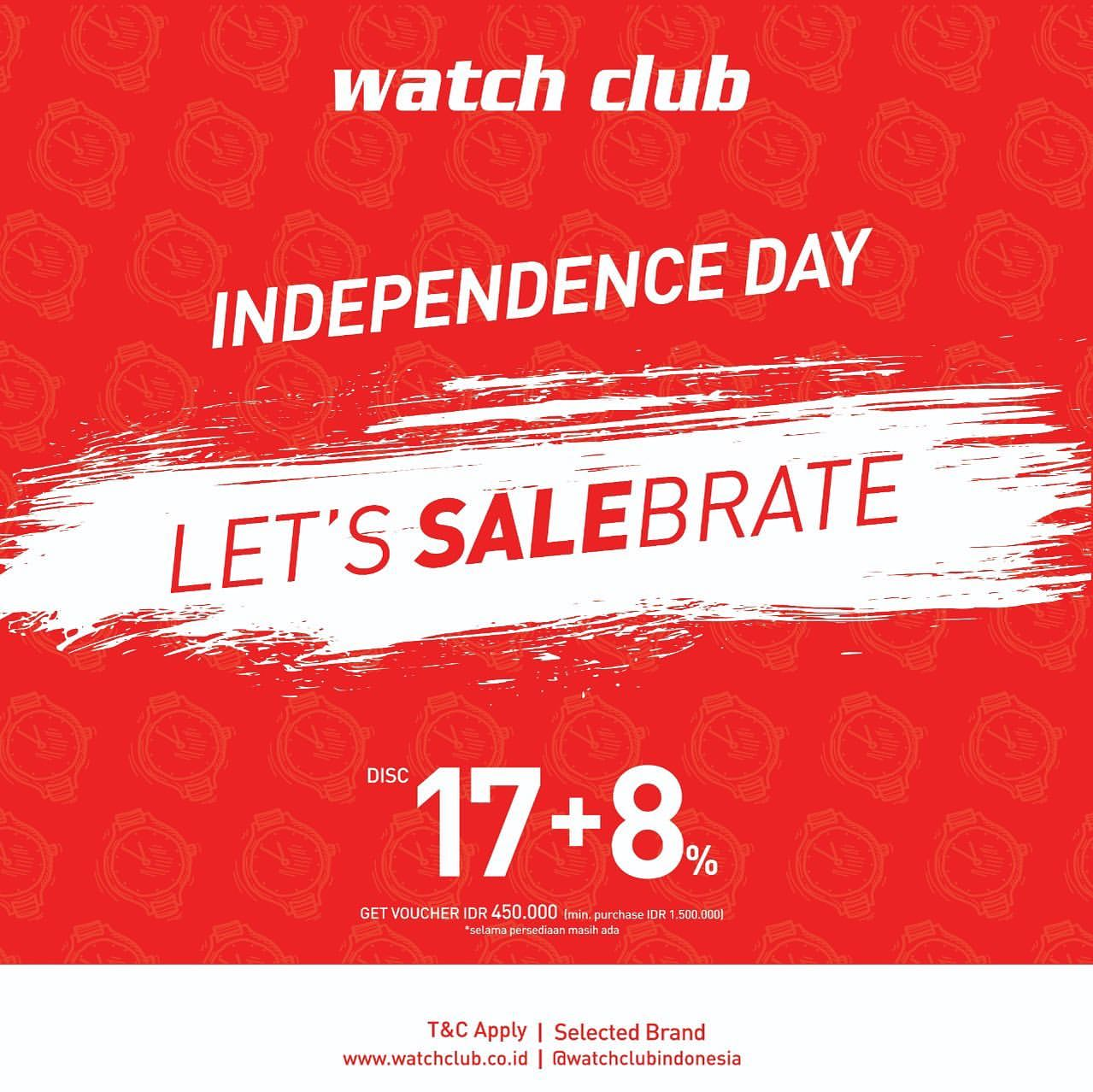 Watch Club Independence Day Promo Discount 17+8%*