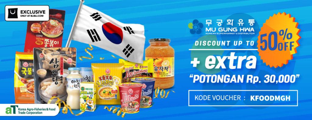 Diskon BLIBLI.COM Promo MU GUNG HWA, Disc up to 50%