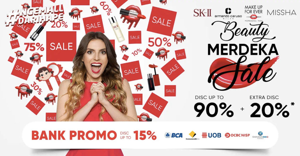 Diskon iLOTTE.COM Promo BEAUTY MERDEKA, Disc up to 90%
