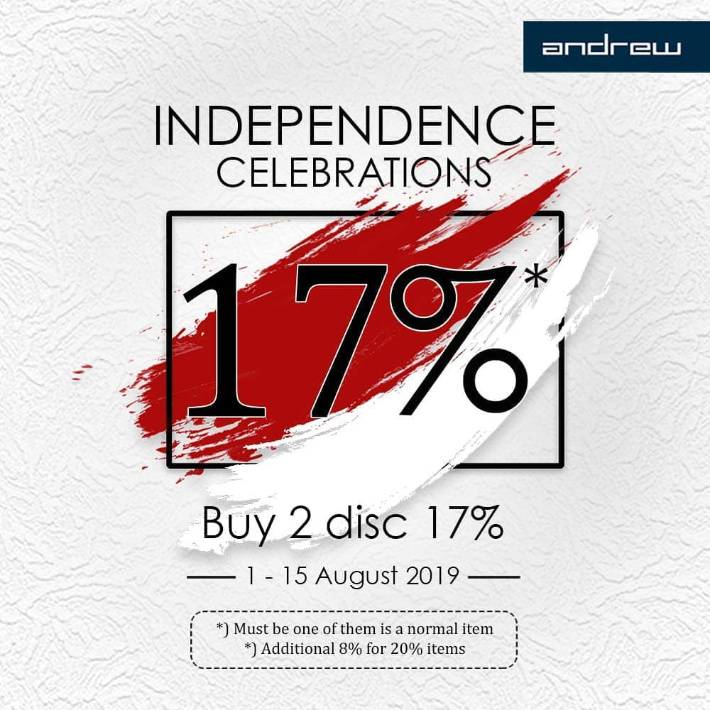 Diskon ANDREW SHOES Independence Celebration, Buy 2 Get 17% off