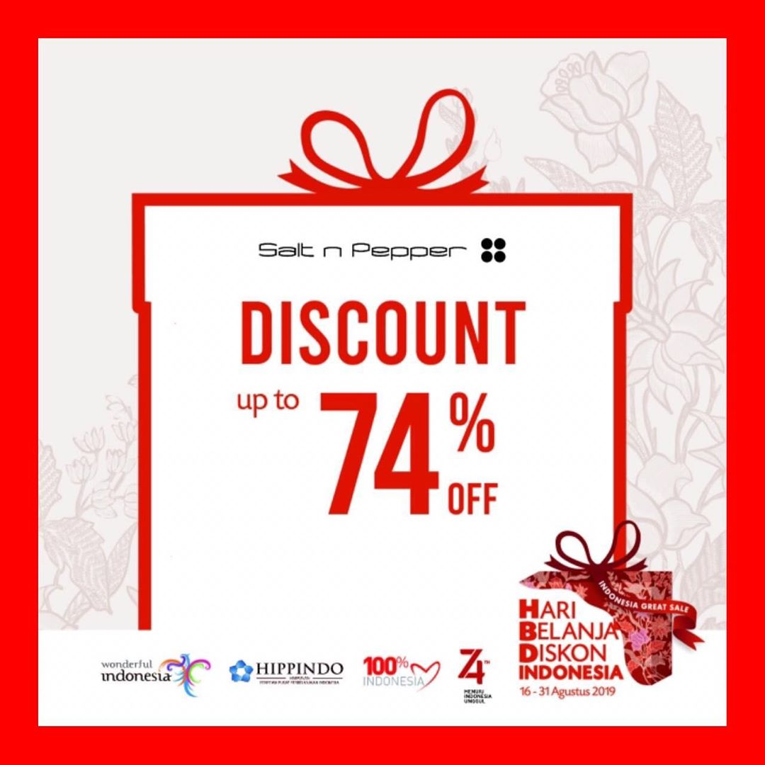 SALT n PEPPER Promo Hari Belanja Diskon Indonesia, Diskon hingga 74%