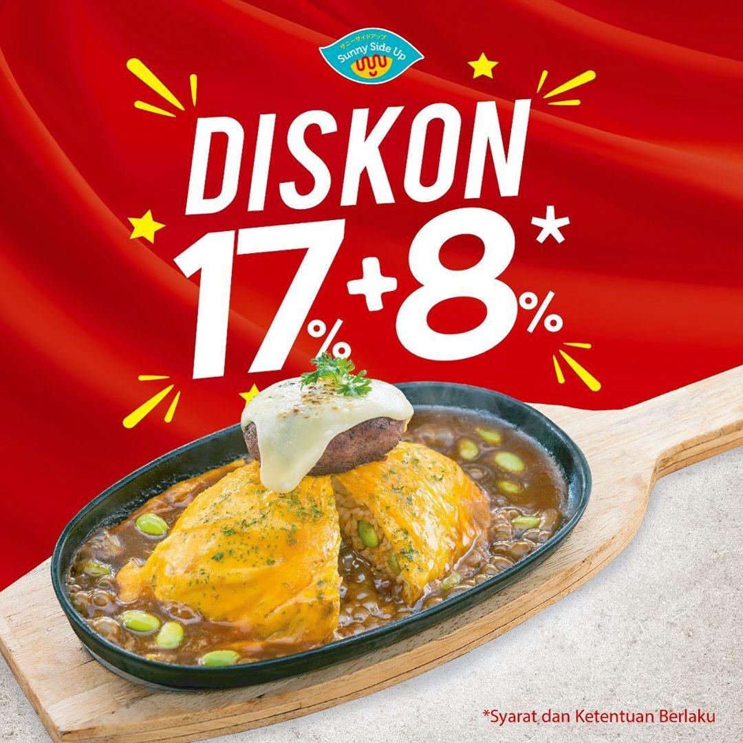 SUNNY SIDE UP Promo Bulan Kemerdekaan, Diskon Spesial 17% + 8%*