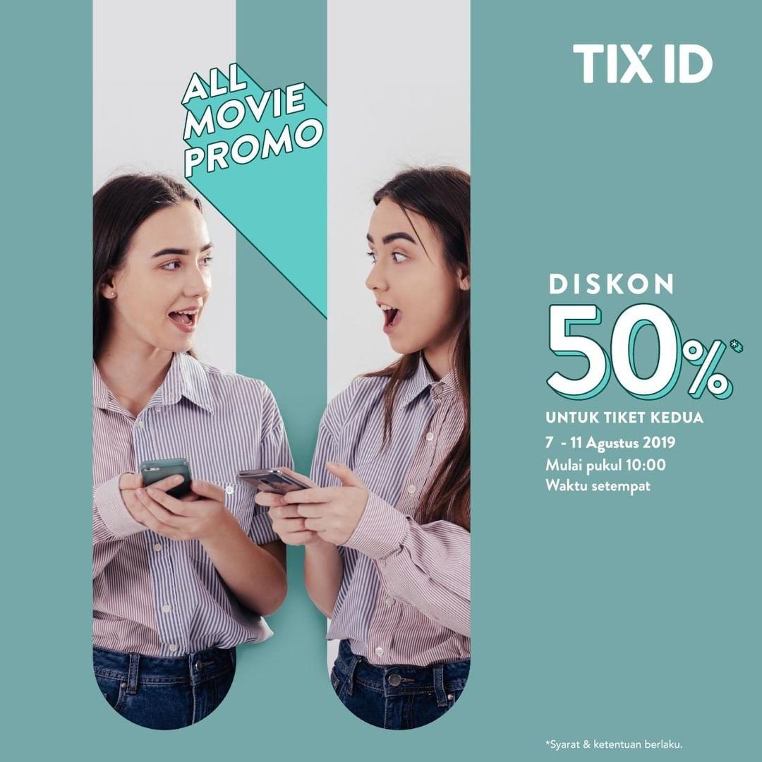 TIX ID Promo Diskon 50% Untuk Tiket Kedua