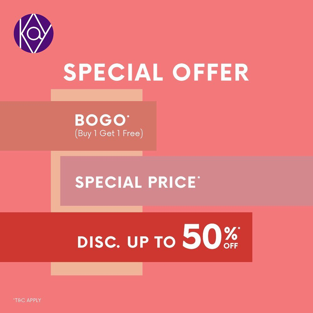 Diskon KAY COLLECTION Special Offer Buy 1 Get 1