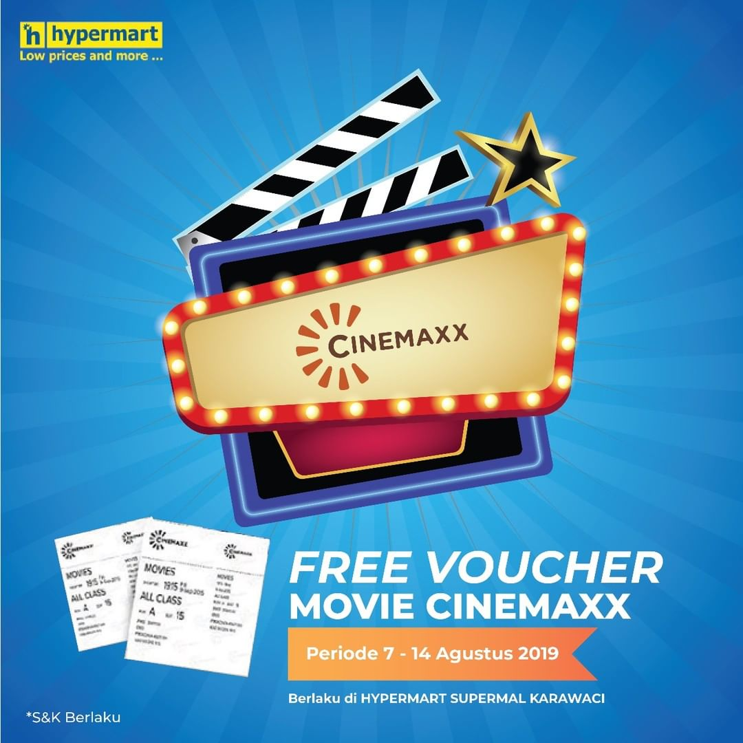 Diskon HYPERMART Promo GRATIS Voucher* Movie Cinemaxx