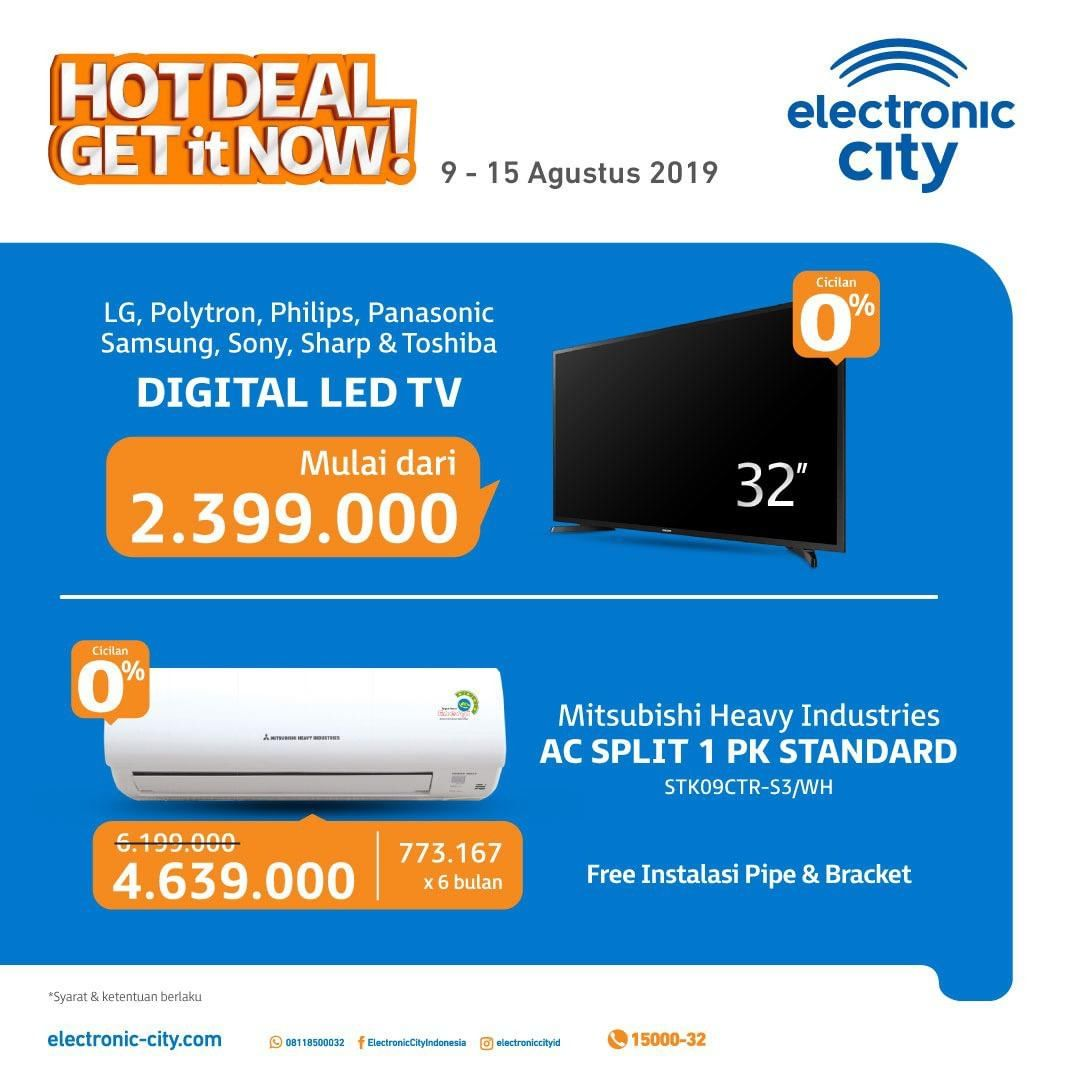 ELECTRONIC CITY HOT DEALS periode 09-15 Agustus 2019