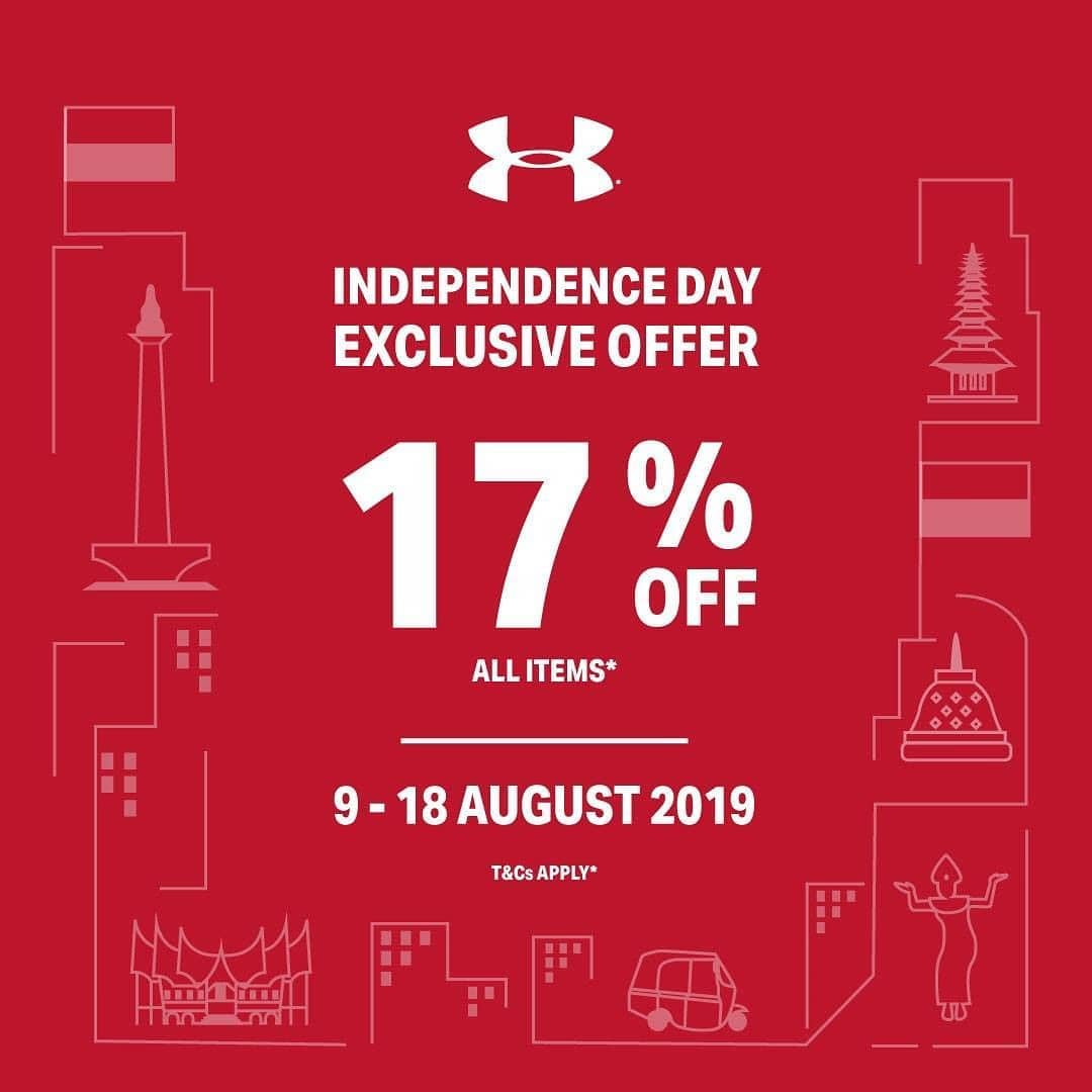 UNDER ARMOUR INDEPENDENCE DAY EXCLUSIVE OFFER DISKON 17%