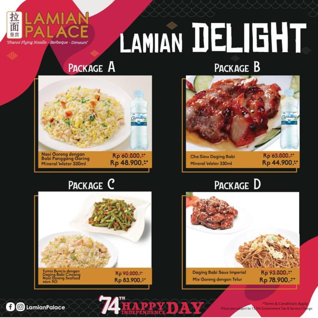 Lamian Palace Promo Delight Package spesial Hari Kemerdekaan