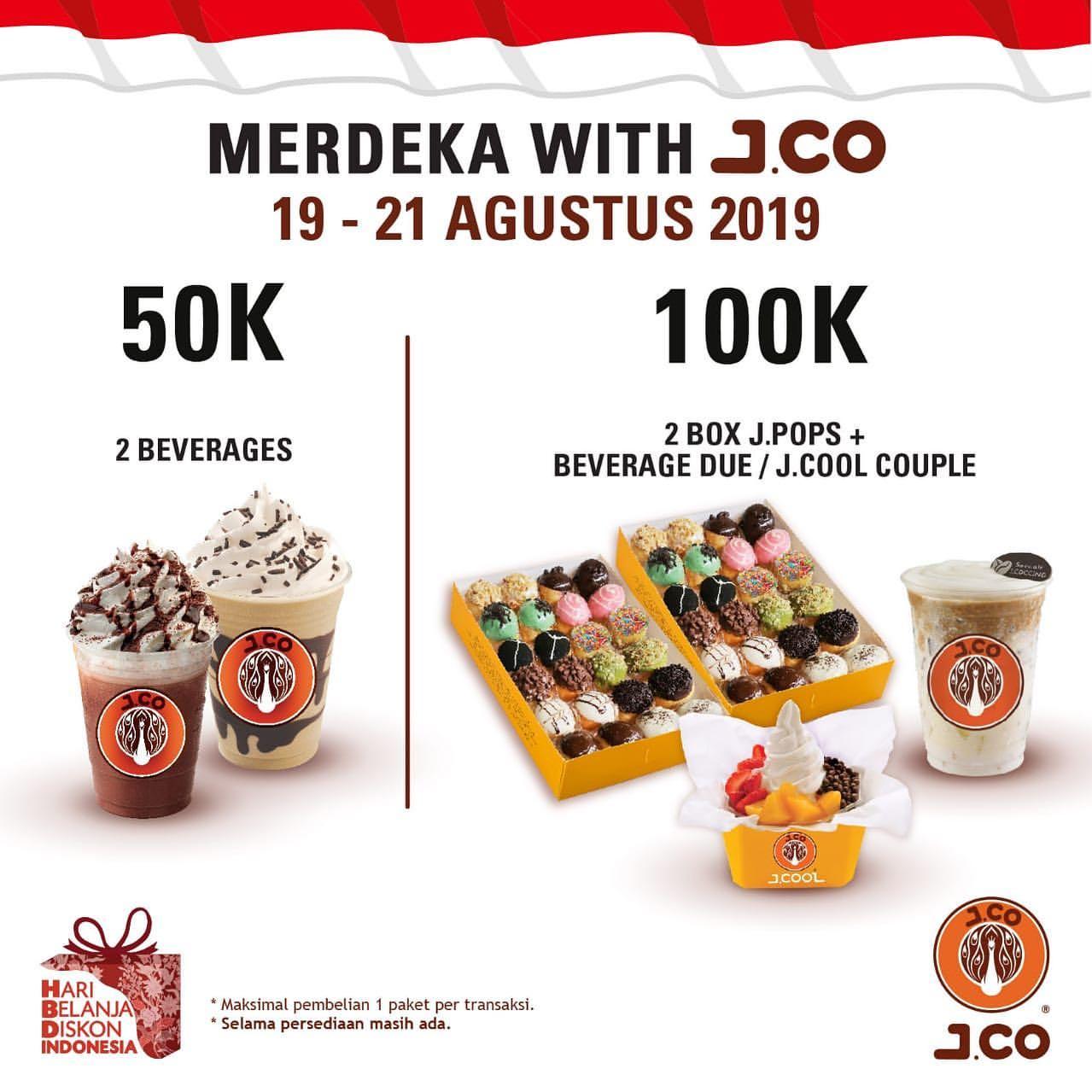 JCO Promo MERDEKA Harga Spesial Hanya Rp.100.000