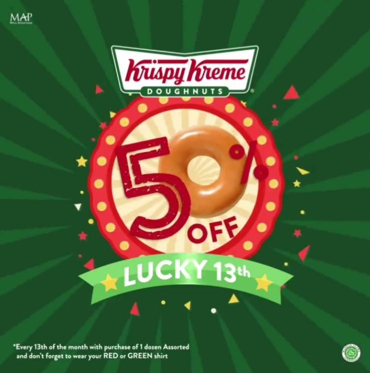 KRISPY KREME Promo Diskon 50% setiap tanggal 13