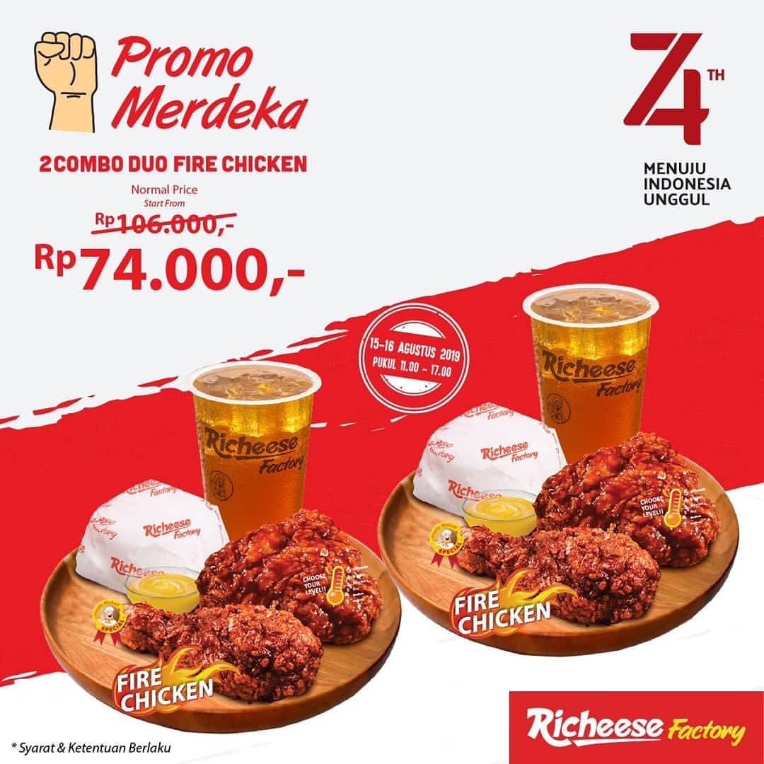 RICHEESE FACTORY Promo Merdeka, hanya Rp.74.000