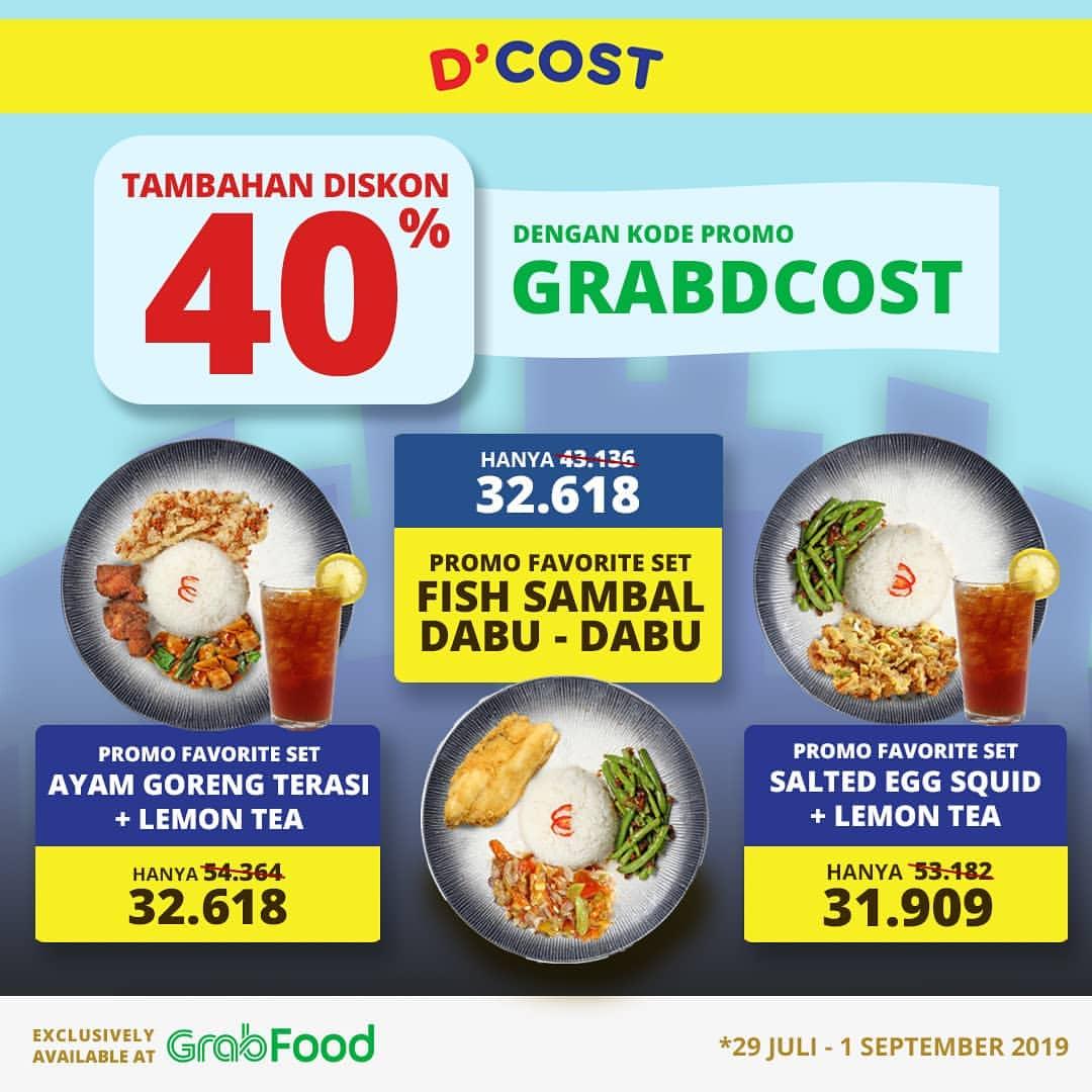 DCOST Promo HEMAT hingga 40% untuk Favorite Set khusus via GRAB Food