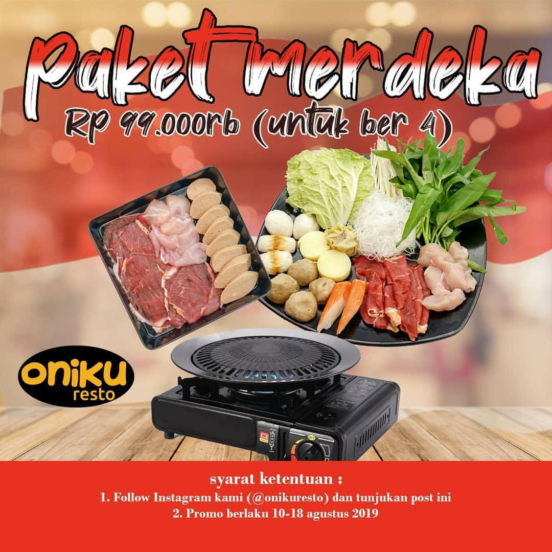 ONIKU RESTO Promo PAKET MERDEKA, HANYA Rp.99.000