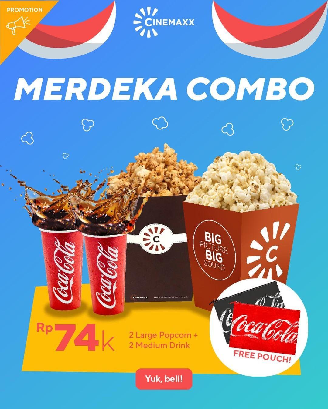 CINEMAXX MERDEKA COMBO hanya Rp.74.000